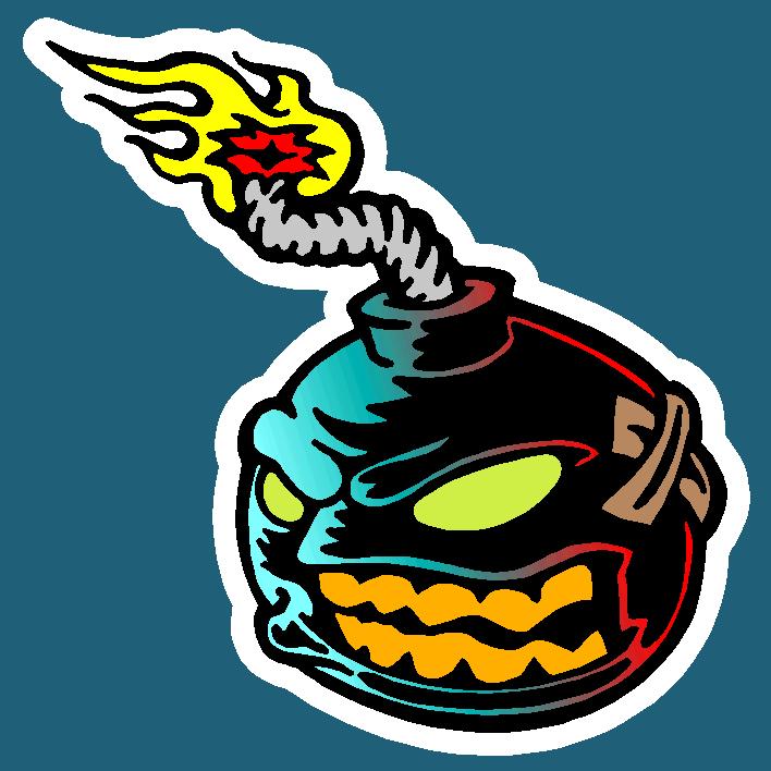 drift bomb decal sticker图片