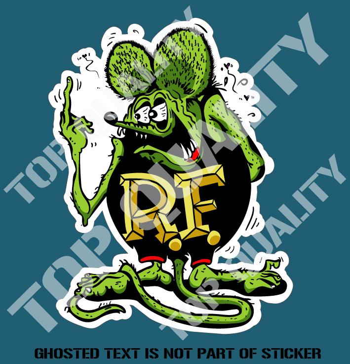Rat Fink Decal Sticker Auto Tattoo Grafix