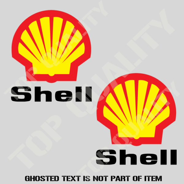 Shell oil x2 decals stickers